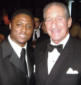 Warrick Dunn with Arthur Blank