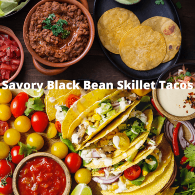 savory black bean skillet tacos recipe - White Wolf Digital